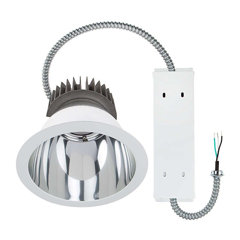 Commercial led downlight retrofit for 8 cans recessed light w 8 architectural retrofit led downlight 280 watt equivalent 2800 lumens aloadofball Gallery