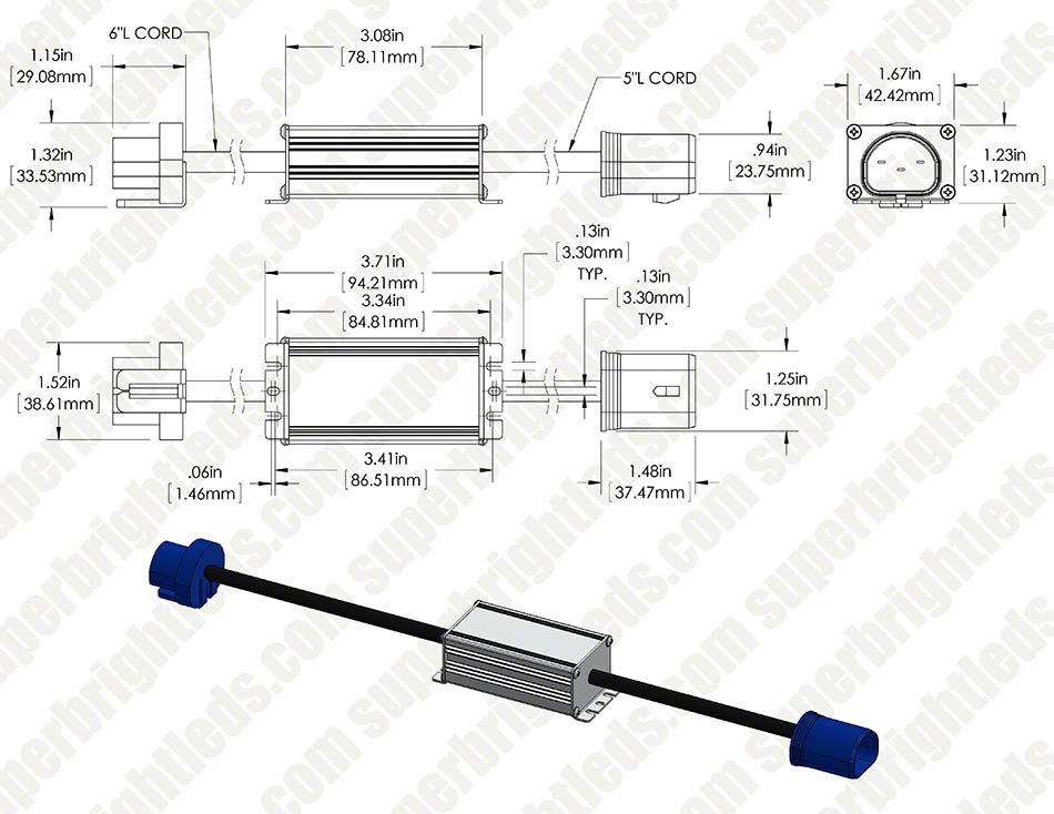 Headlight Load Resistor Kit - 9004 Connection
