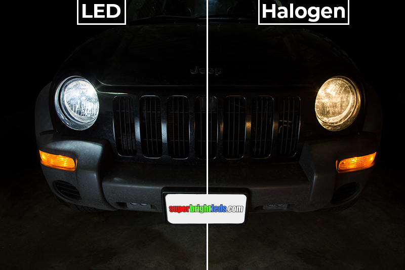 Tractor Headlights Comparison : Led headlight conversion kit with aluminum finned