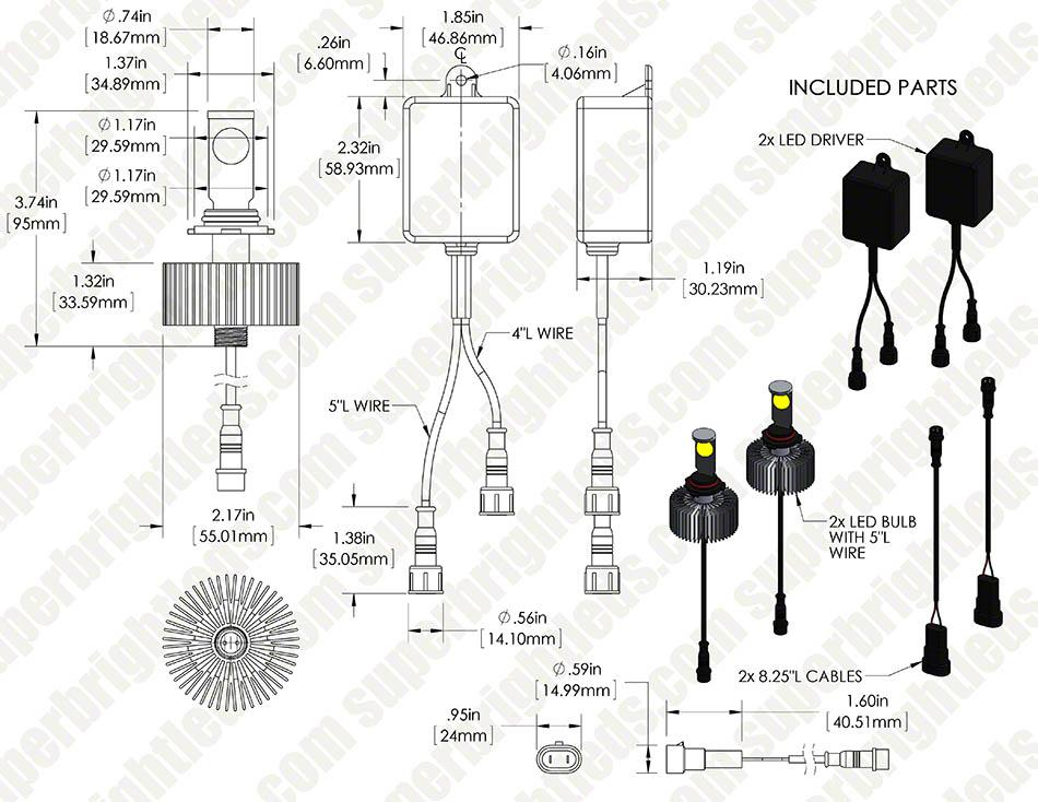 Led Headlight Kit Hb4 9006 Led Headlight Bulbs