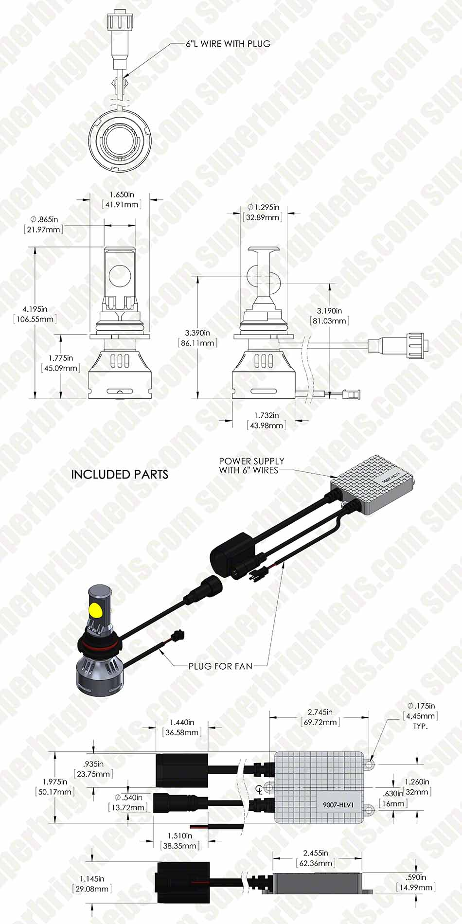 9007 hlv1 assembly digimark0 motorcycle led headlight conversion kit 9007 led headlight bulb 9007 headlight wiring diagram at bayanpartner.co