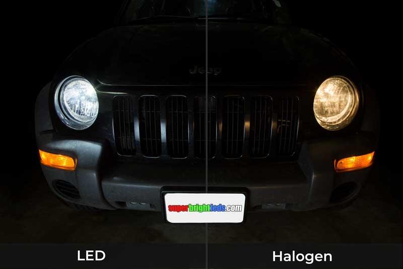 9007 LED Fanless Headlight/Fog Light Conversion Kit with Internal Drivers -  4,000 Lumens/Set
