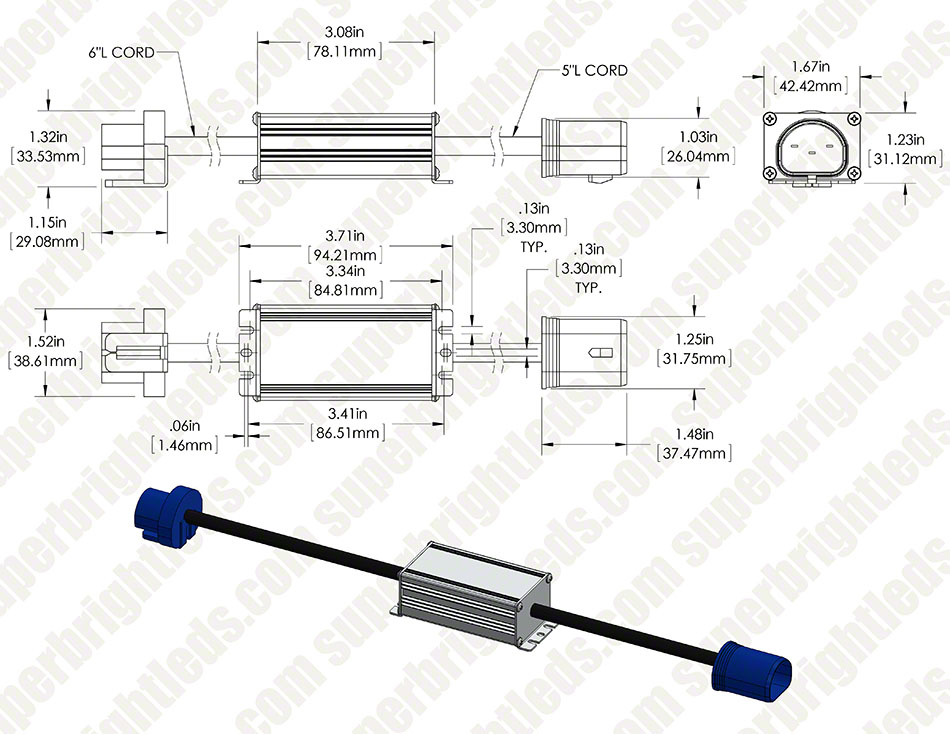 Headlight Load Resistor Kit - 9007 Connection