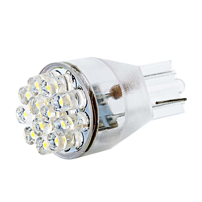 921 Led Bulb 12 Led Forward Firing Cluster Miniature Wedge Retrofit Miniature Wedge Base