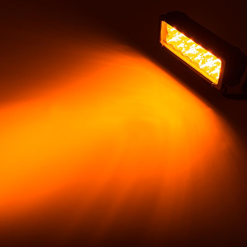 "Industrial Led Light Bar: 7.5"" Dual Row Heavy Duty Off Road Amber LED Light Bar"