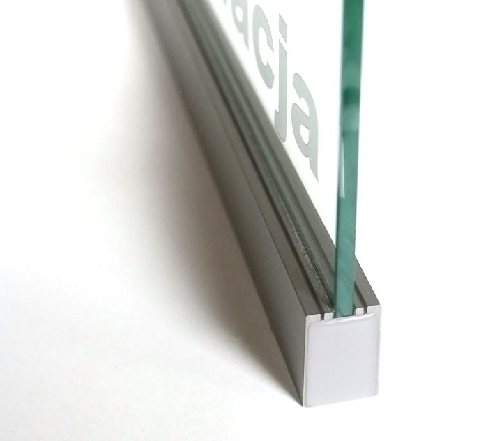 Aluminum Led Channel For 6mm Glass Klus Ex Alu Series