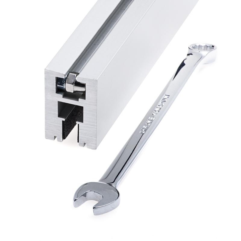 aluminum led channel for 6mm glass klus ex alu series super