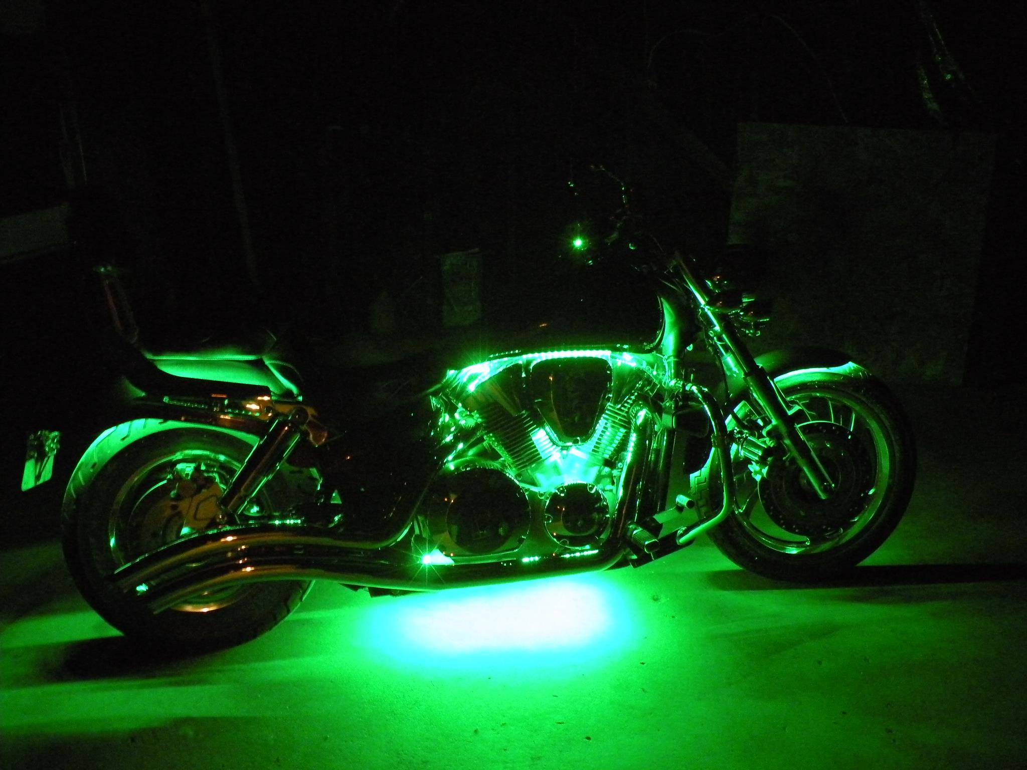 Motorcycle Engine Led Lighting Kit Single Color 12v Led