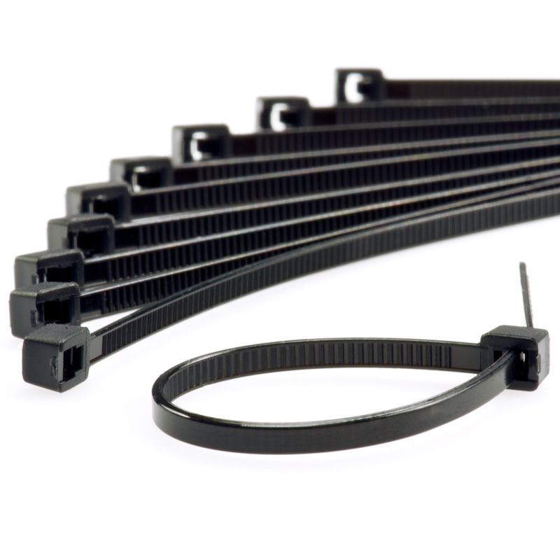 Black Wire Ties : Black cable ties pack tie