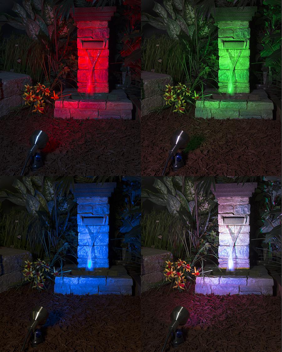 6W Color Changing RGB LED Landscape Spotlight (remote Sold