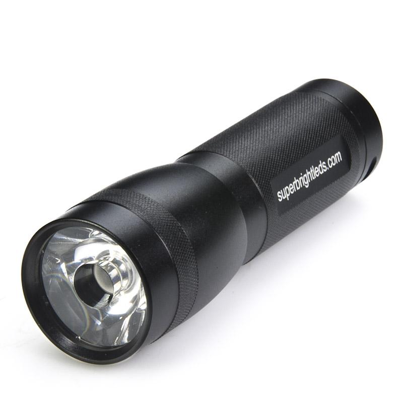 3 Watt LED Flashlight - Black - 120 Lumens : LED Flashlights : Super Bright LEDs