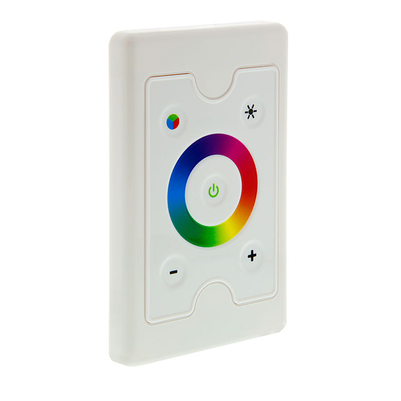 wall mount touch color rgb controller dynamic color changing modes 3 amps channel super. Black Bedroom Furniture Sets. Home Design Ideas