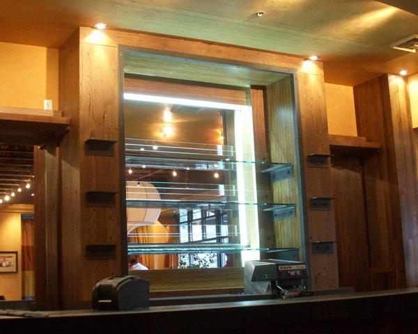 shelf lighting strips. light strip used as bottle shelf lighting strips
