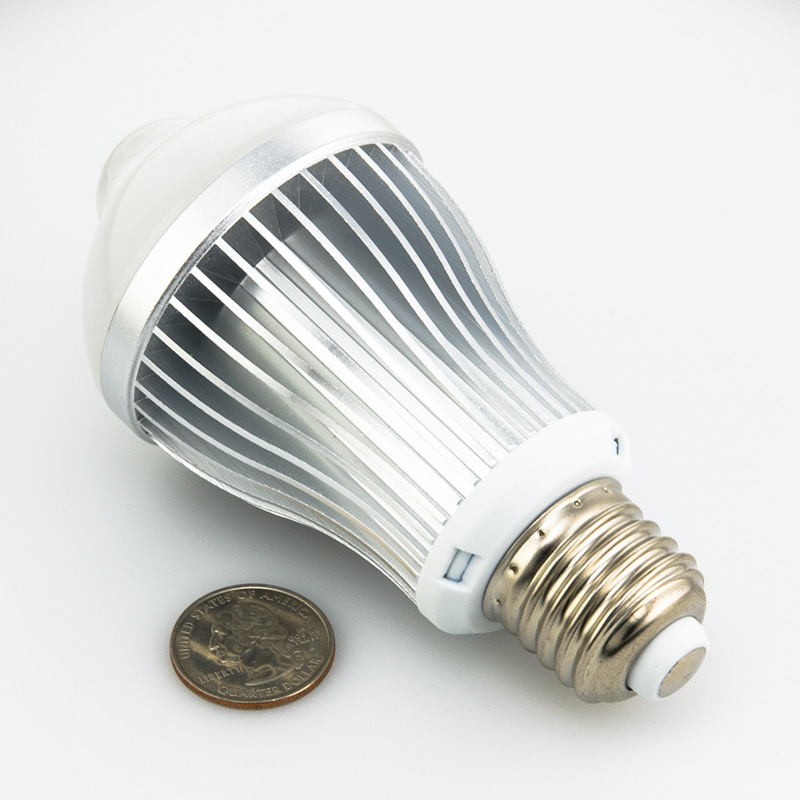 6 watt led a19 globe bulb with motion sensor motion. Black Bedroom Furniture Sets. Home Design Ideas