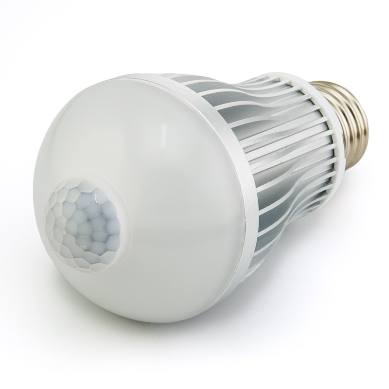 6 watt led a19 globe bulb with motion sensor motion sensor lights led home lighting super. Black Bedroom Furniture Sets. Home Design Ideas