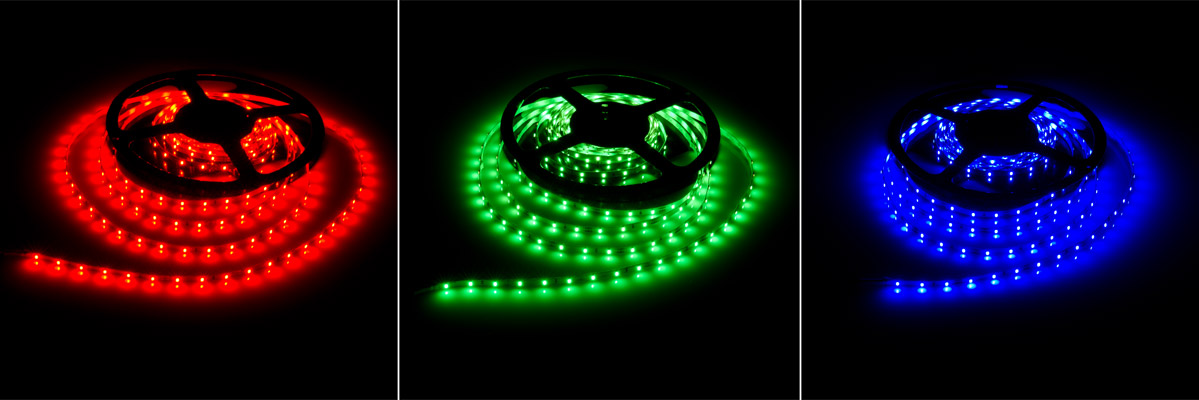 Led strip lights slim 12v led tape light 155 lumensft nfls ss x300 nfls ss x300 high power led super slim flexible light strip illuminated in red green blue aloadofball Gallery