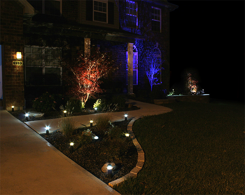3 watt rgb led landscape spotlight led landscape for Led yard lights
