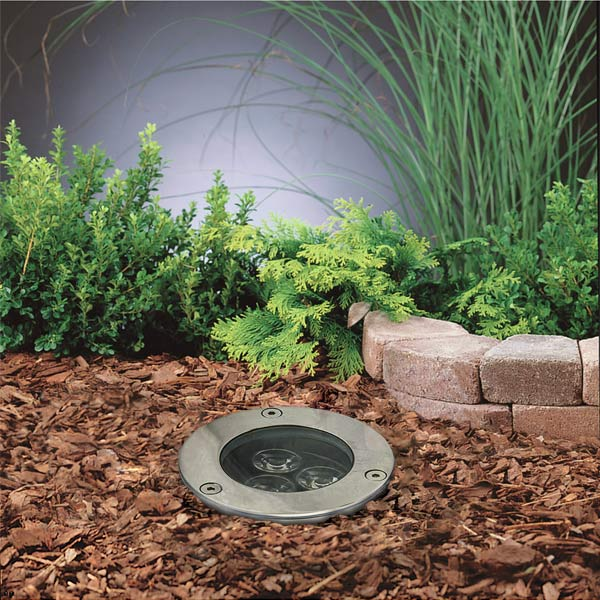 Led in ground well light 3 x 1w high power leds led for In ground landscape lighting