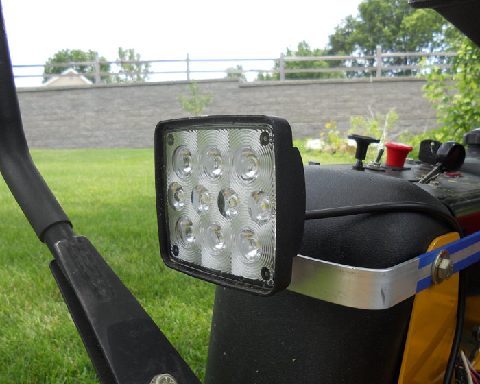 Led Lights For Lawn Tractor : Quot square w super duty high powered led spot light work off road bars