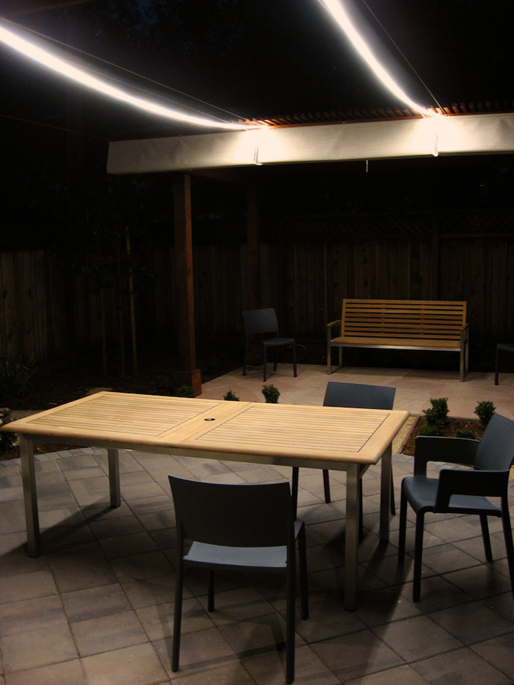 Custom Length LED Waterproof Flexible Light Strip: Installed Above Patio