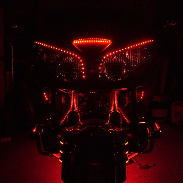 A Customeru0027s Application Of Our SWFLS R60 On His Honda Gold Wing  Motorcycle. Flexible Light Strips ...
