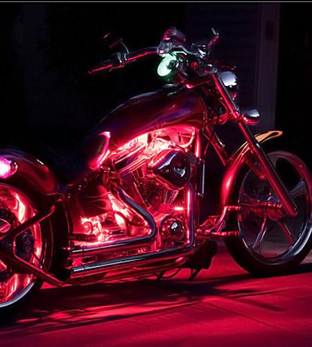 Motorcycle Engine Led Lighting Kit Single Color 12v Led