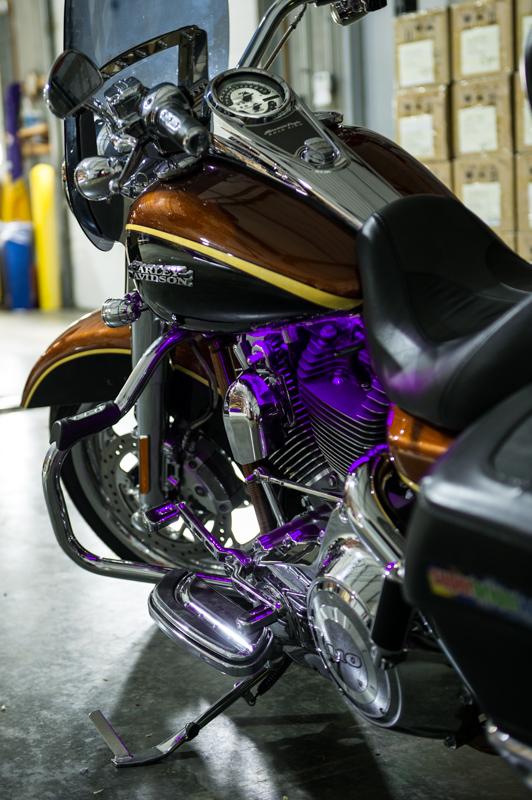 Motorcycle Engine Kits : Motorcycle engine led lighting kit single color v
