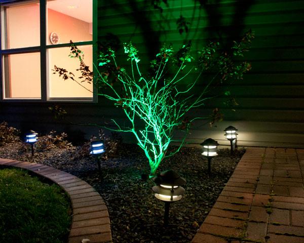 100 colored led landscape lighting amazon com solar cross l