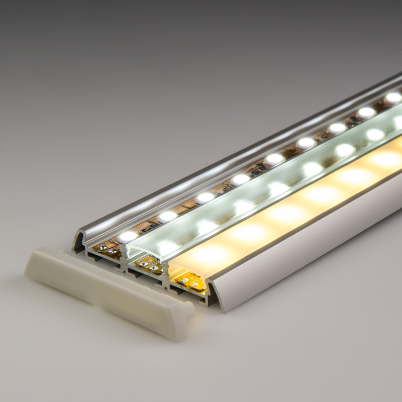 klus 1547 led profile lens standard frosted led profile housings led strip lights led. Black Bedroom Furniture Sets. Home Design Ideas