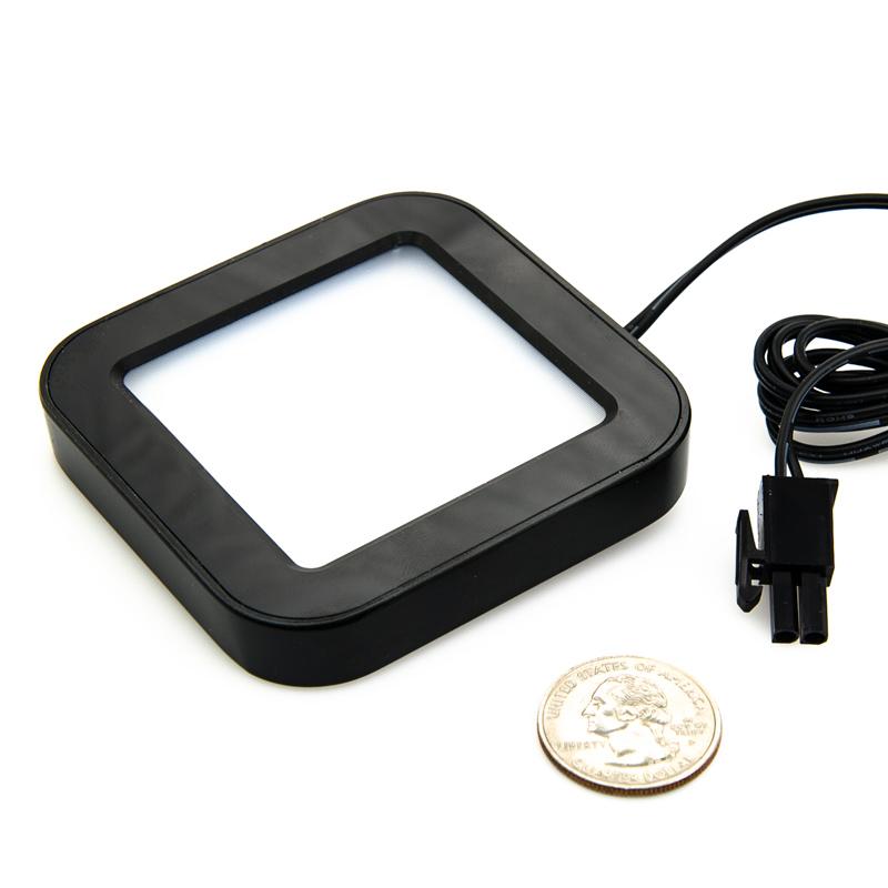 plug and play surface mount square led puck light fixture ssm series surf. Black Bedroom Furniture Sets. Home Design Ideas