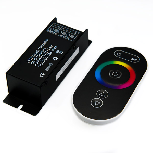 rgb led controller with wireless rf touch color remote. Black Bedroom Furniture Sets. Home Design Ideas