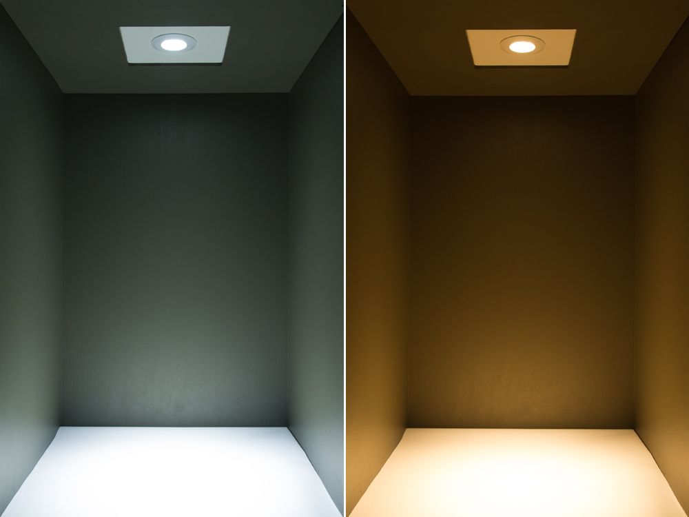 cool recessed lighting. RLFN-x7W - Light Fixture Shown In Cool White(right) And Warm White White(left) Recessed Lighting I