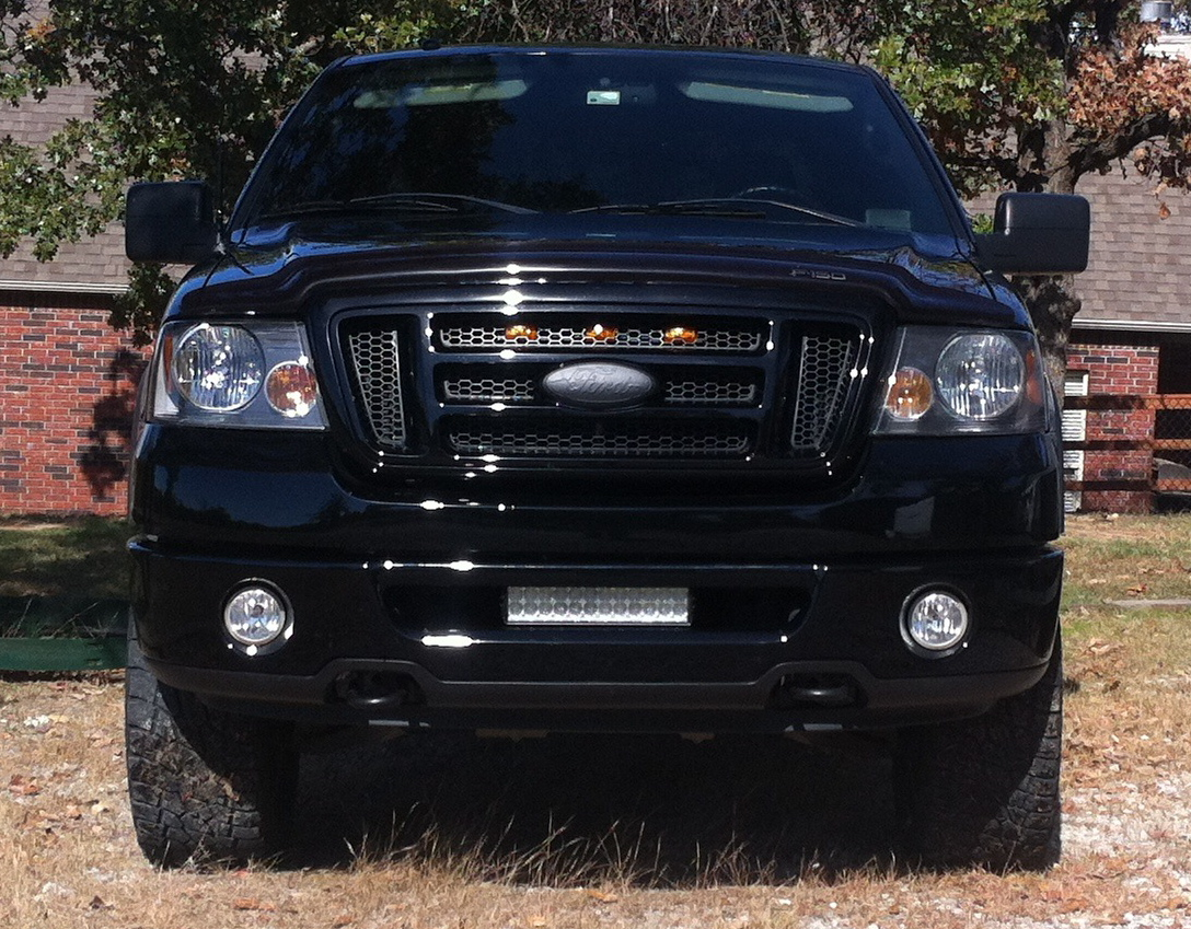 12 off road led light bar 54w 3765 lumens super bright leds 12 heavy duty off road led light bar 54w installed on truck aloadofball Choice Image