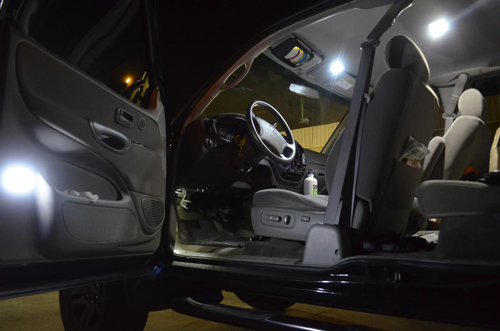 Interior Of Customer Truck Using Our LEDs   Thanks Brandon M.