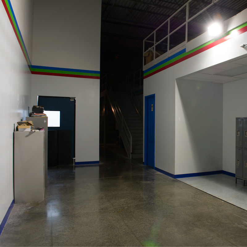 led wall pack 50w high power led shown installed in warehouse - Led Wall Pack