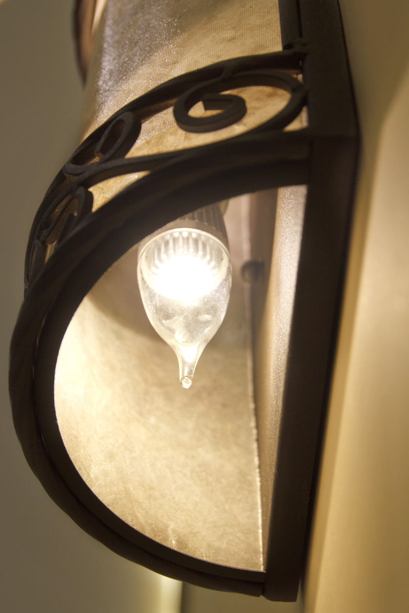 Candelabra Bulb In Wall Fixture