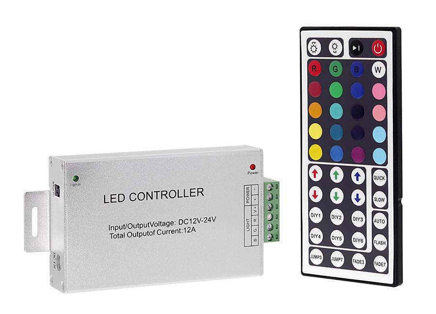 ldir rgb3 rgb controller with ir remote strip modules. Black Bedroom Furniture Sets. Home Design Ideas