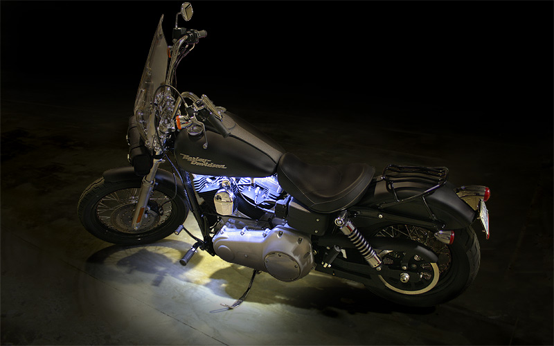 Motorcycle engine led lighting kit single color 12v led tape light 132 lumensft led light strip accenting motorcycle engine aloadofball Gallery