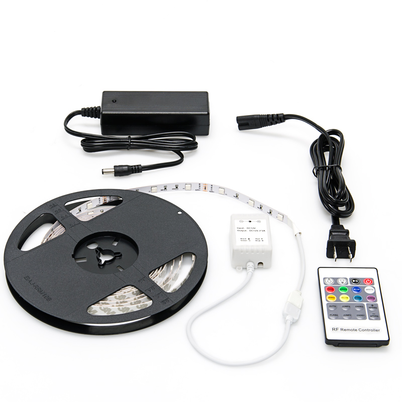 Led strip lighting kits democraciaejustica nfls rgb150 kit color changing flexible led light strip aloadofball Images