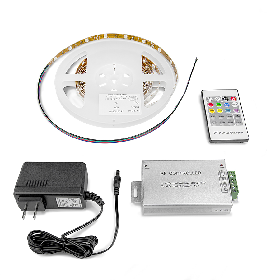 LED Light Strip Full Kit With Multi Color LEDs LED Tape Light With 9 SMDs F