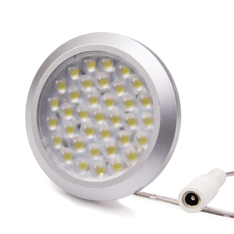 36 high power smd led puck light fixture recessed led. Black Bedroom Furniture Sets. Home Design Ideas