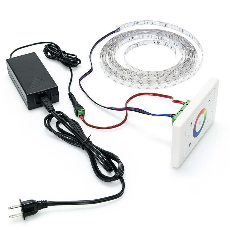 Led Strip Light Wall Dimmer: Wall Mount Touch Color RGB Controller