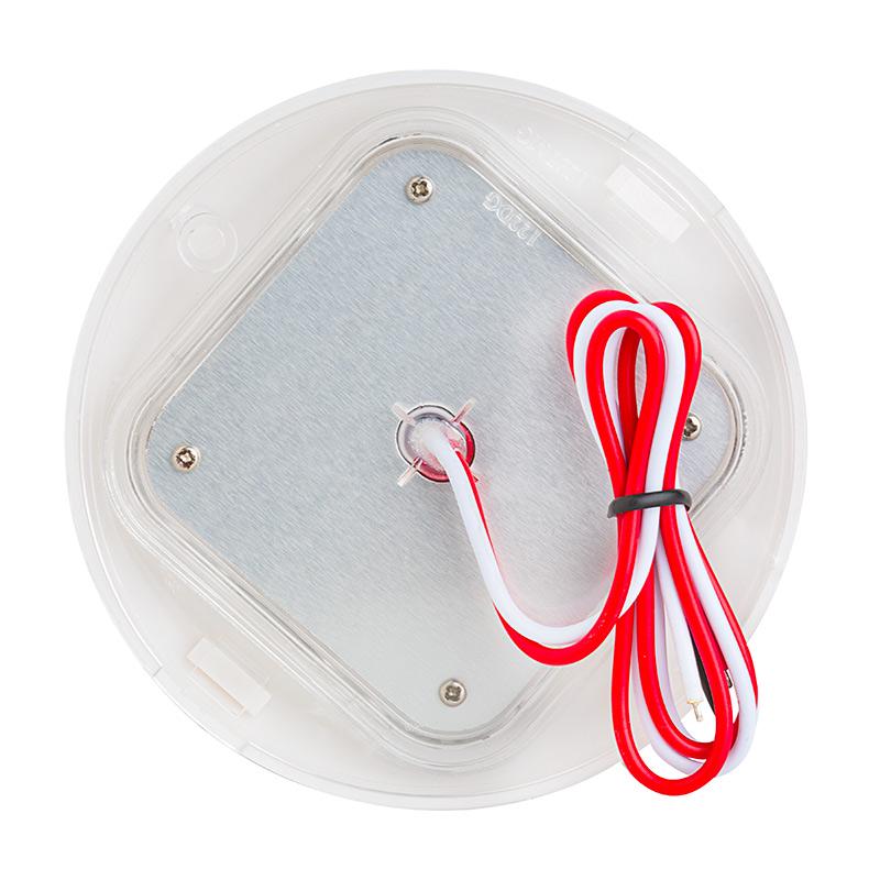 Round led dome light fixture 30 watt equivalent for Led lampen 0 3 watt
