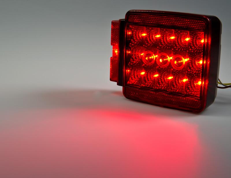 Square LED Trailer Light Kit  412 LED BrakeTurnTail Light
