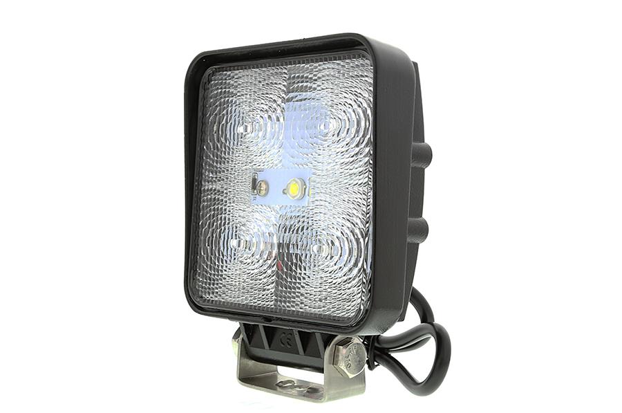 led work light 4 square 15w 1 050 lumens led work lights led auxiliary work lights. Black Bedroom Furniture Sets. Home Design Ideas