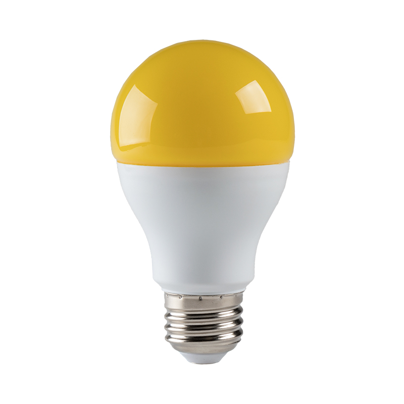 Led Bug Light Bulb A19 Yellow 75 Watt Equivalent 940 Lumens Led Shop Lights Garage