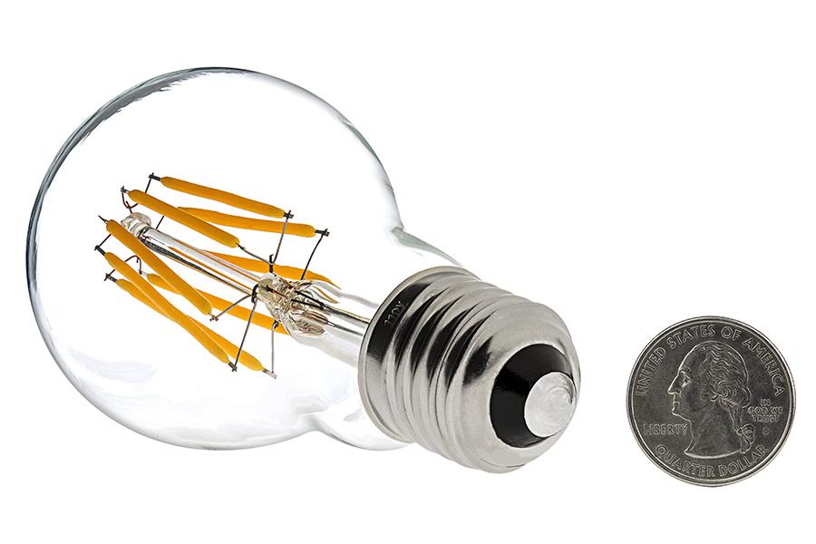 a19 led bulb 40 watt equivalent led filament bulb 12v dc 490 lumens super bright leds. Black Bedroom Furniture Sets. Home Design Ideas