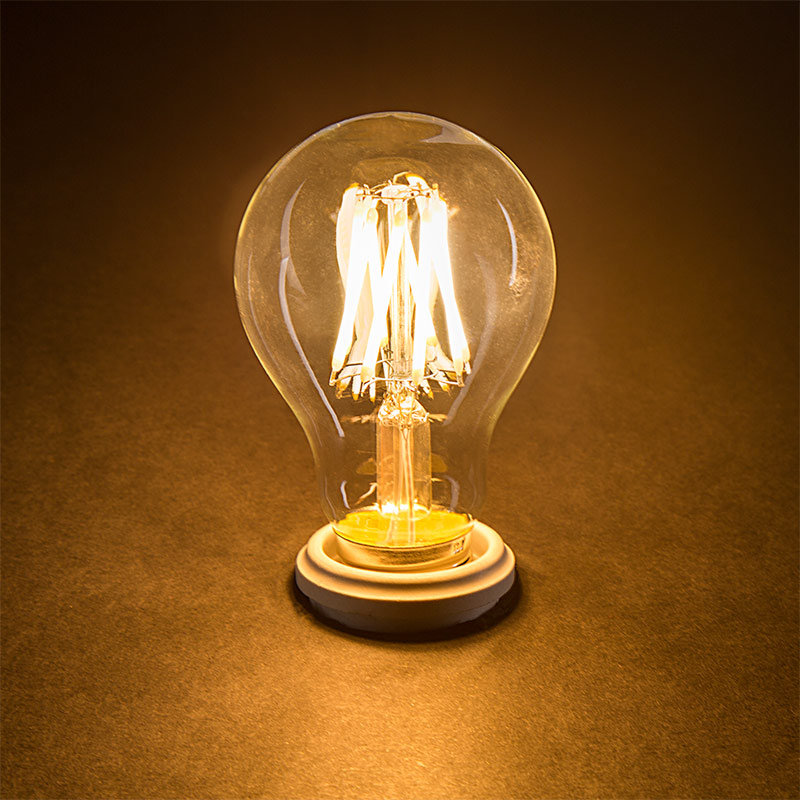 a19 led bulb 50 watt equivalent led filament bulb 12v dc 490 lumens led globe bulbs. Black Bedroom Furniture Sets. Home Design Ideas