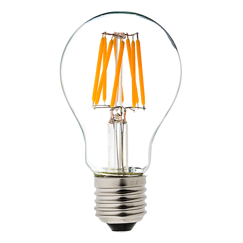 a19 led bulb 60 watt equivalent led filament bulb dimmable 700 lumens super bright leds. Black Bedroom Furniture Sets. Home Design Ideas