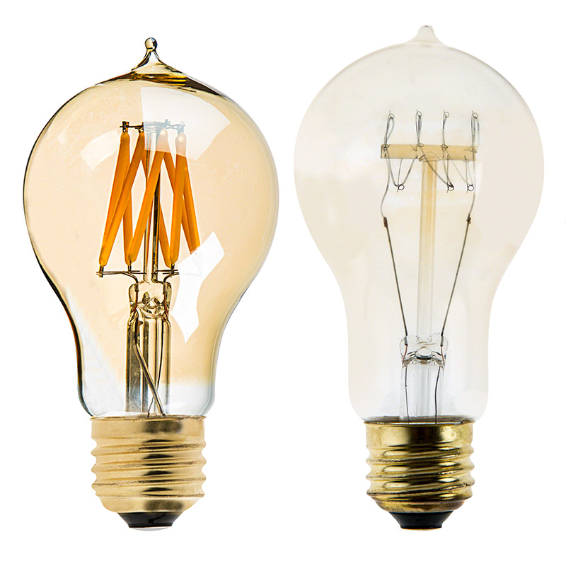A19 Led Bulb Gold Tint Victorian Style Led Filament Bulb 40 Watt Equivalent Dimmable 470